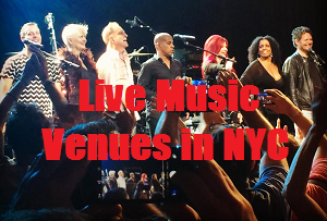 Live music venues in NYC