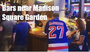 ny rangers bars bars near madison square garden nyc