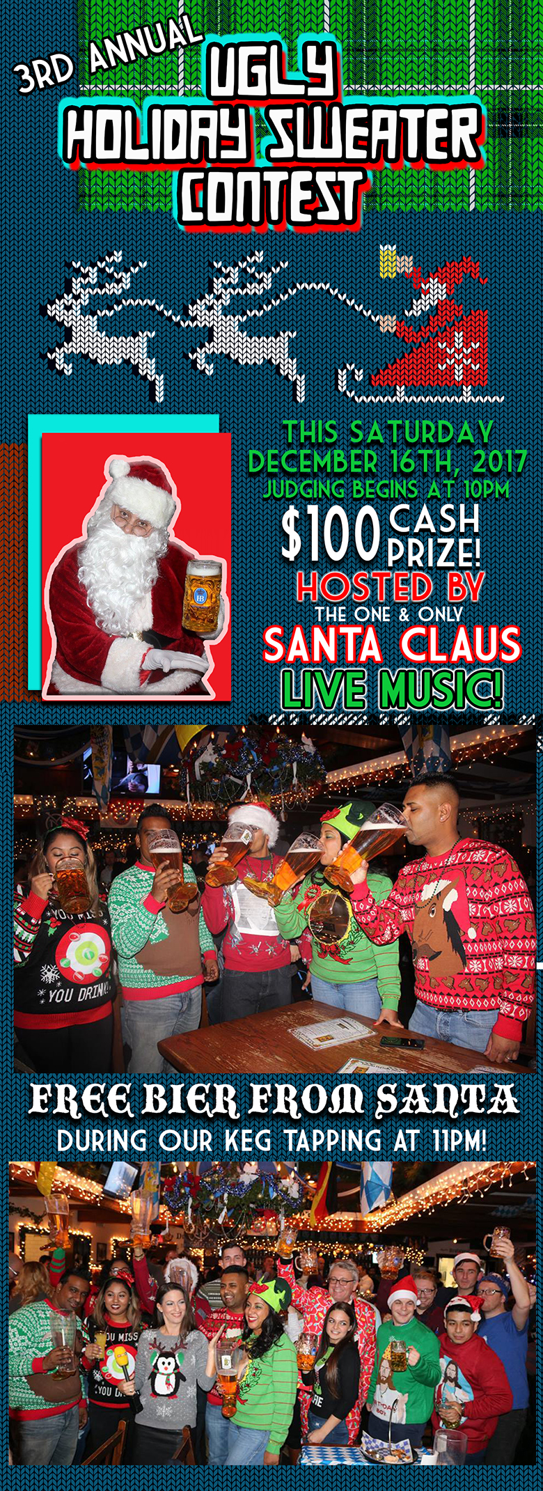 Ugly Sweater Party At Bierhaus Murphguide Nyc Bar Guide