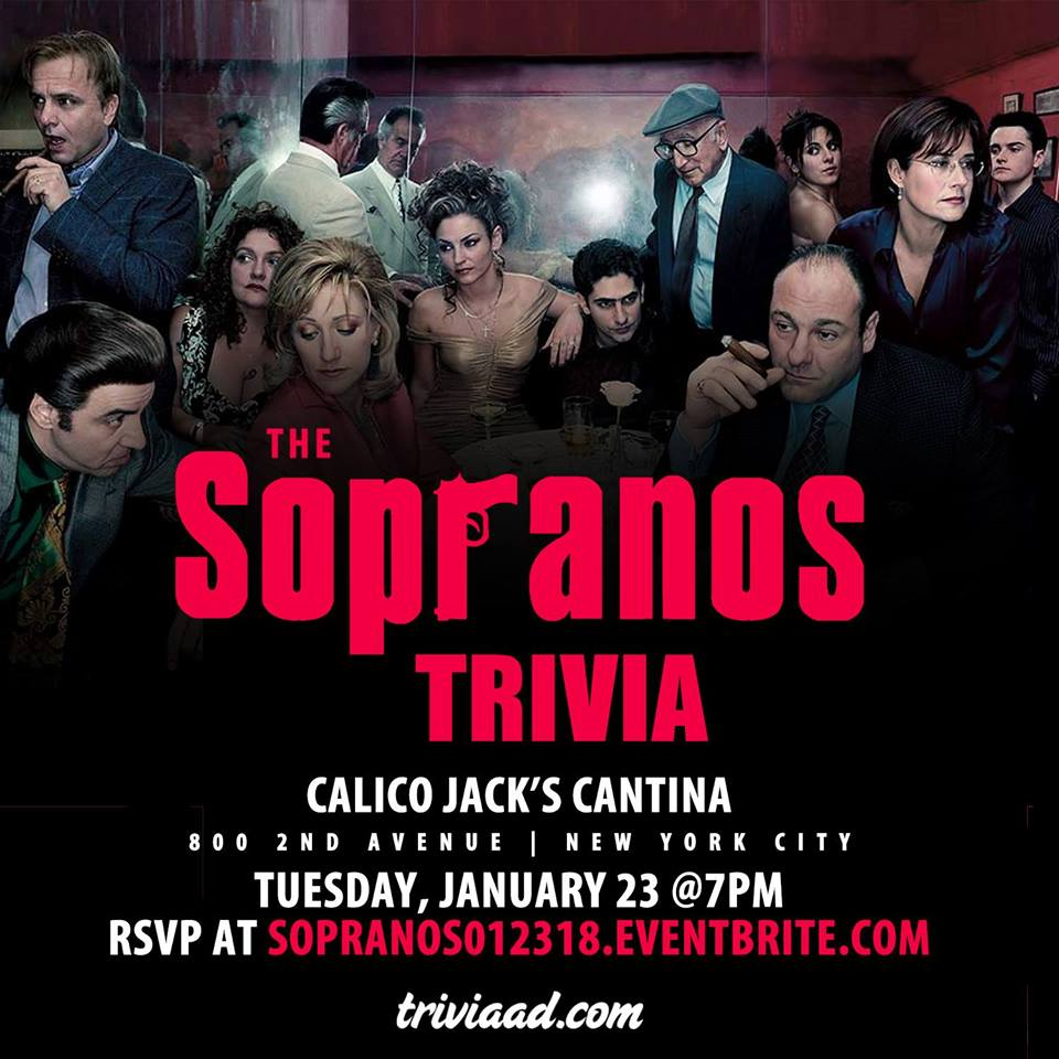 Sopranos Trivia at Calico Jack's - MurphGuide: NYC Bar Guide