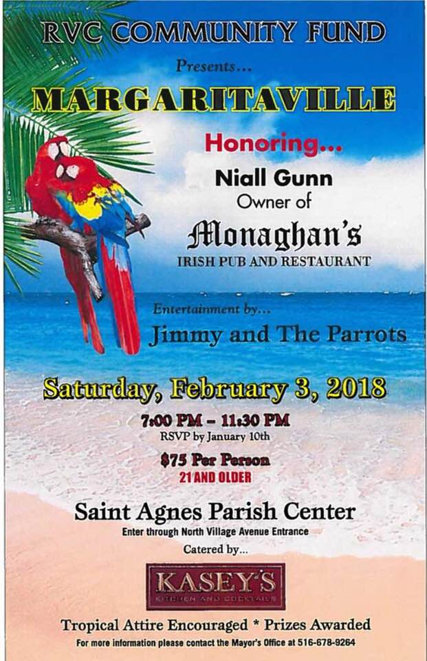 Margaritaville Benefit at St  Agnes - MurphGuide: NYC Bar Guide