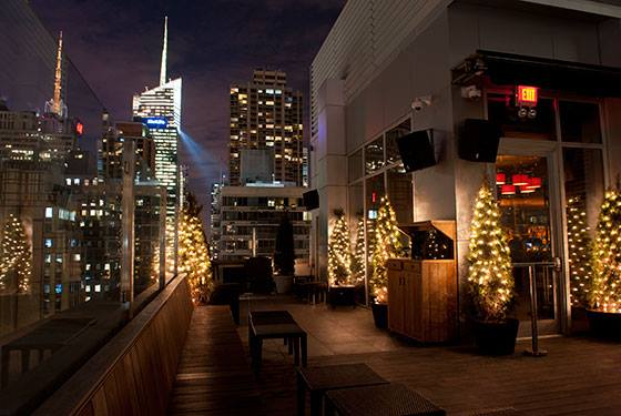 Networking event at the monarch rooftop indoor lounge for 1271 6th avenue 35th floor new york ny 10020