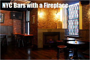 Bars with a Fireplace in NYC