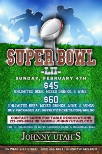 Super Bowl at Johnny Utah's