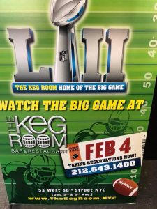 Super Bowl at The Keg Room