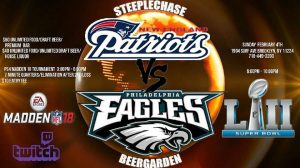 Super Bowl at Steeplechase Beer Garden
