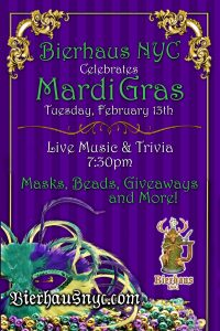 Mardi Gras at Bierhaus