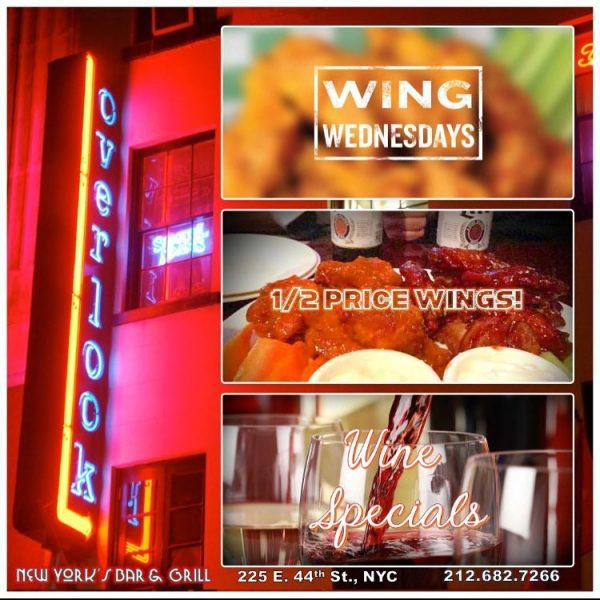 Wine Wing Wednesday at Overlook