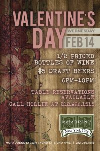 Valentine's Day at McFadden's