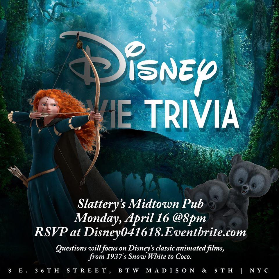 Disney Movie Trivia at Slattery's - MurphGuide: NYC Bar Guide