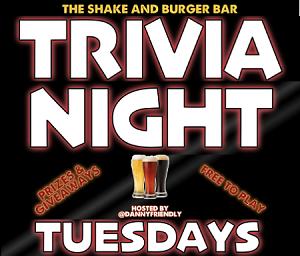 Trivia Night at Shake and Burger Bar