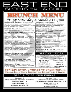 Weekend Brunch at East End Bar