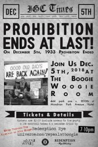 Repeal Day at The Boogie Woogie Room