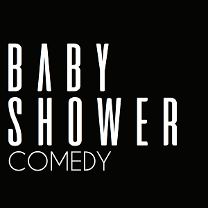 This image has an empty alt attribute; its file name is baby-shower_comedy_black-logo.png