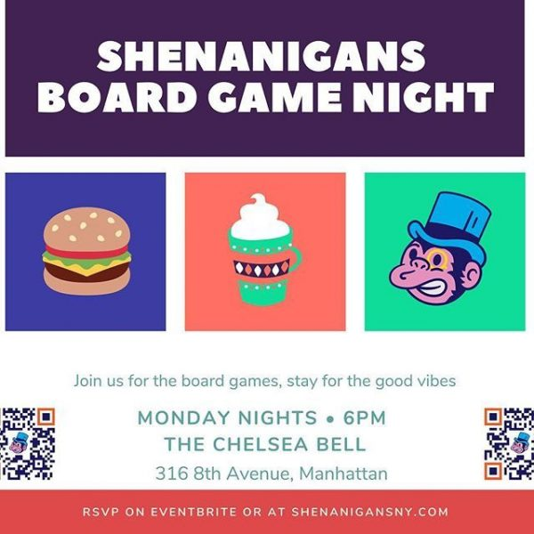 Shenanigan Board Games Night at The Chelsea Bell