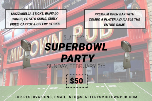 Super Bowl party at Slattery's