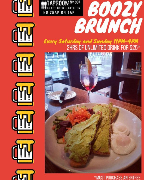 Boozy Brunch at Tap Room No 307