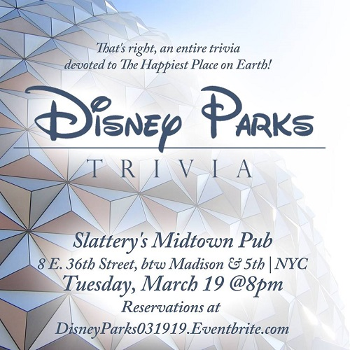 Disney Parks Trivia at Slattery's - MurphGuide: NYC Bar Guide