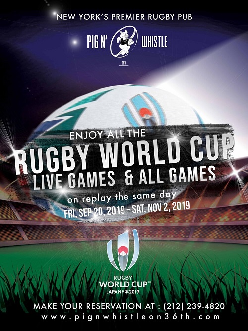 Rugby World Cup at Pig n Whistle NYC