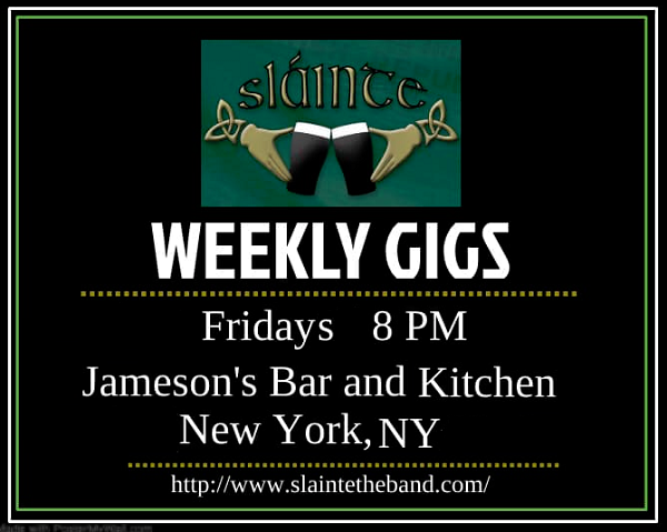Slainte the band at Jameson's