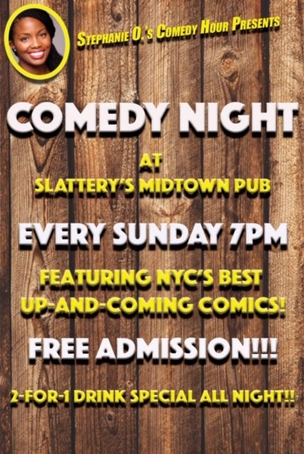 Comedy Sundays at Slattery's