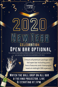 New Year's Eve at Tap Room No. 307
