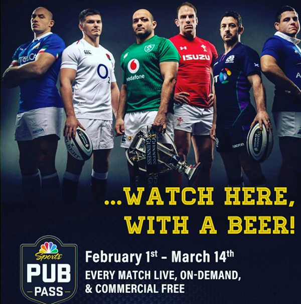 6 Nations Rugby - NBC Pub Pass