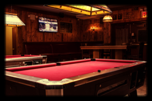 Bleecker St. Bar pool table