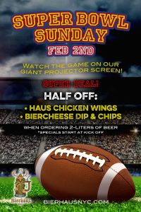 Super Bowl Party at Bierhaus