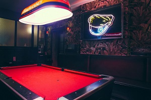 pool table at Tompkins Square Bar
