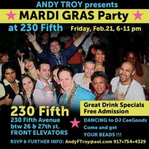 Andy Troy's Mardi Gras party