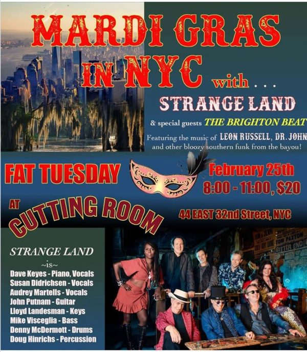 Mardi Gras at The  Cutting Room
