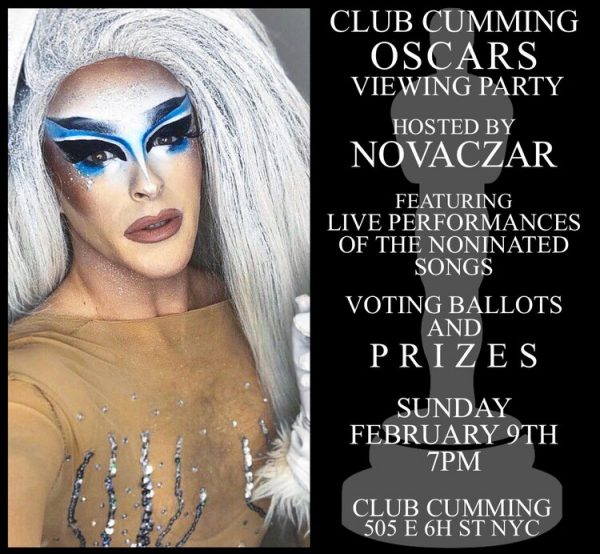 Oscar Viewing Party at Club Cumming