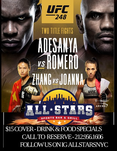 UFC 248 at All-Stars Bar & Grill